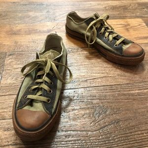 Converse | All Star Army Green and Brown Sneakers